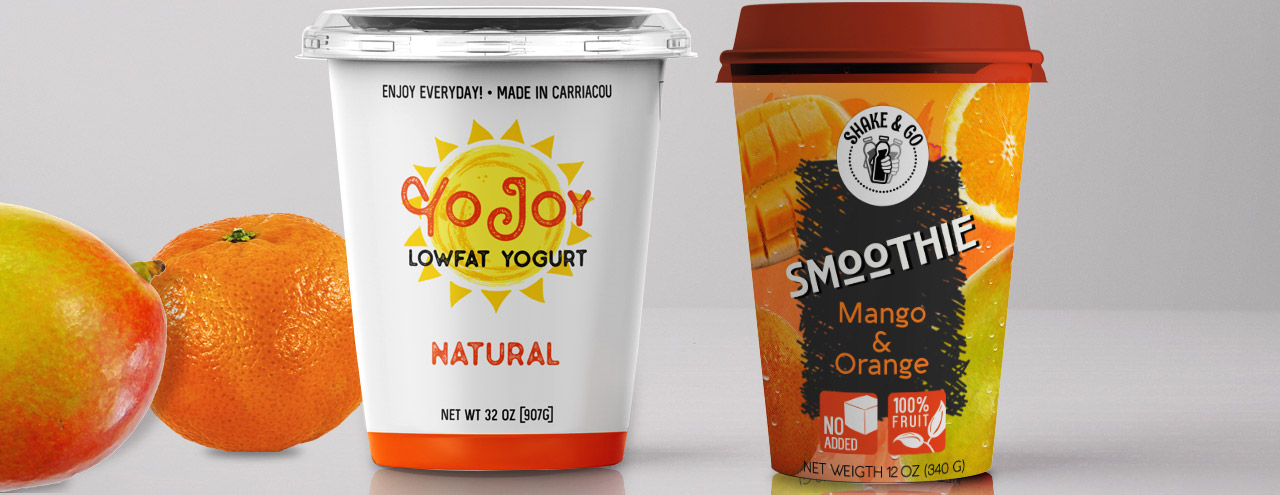 Frozen Yogurt and Smoothie Labels