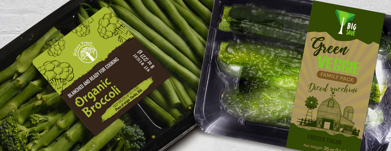 Frozen Vegetable Labels