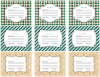 recipe label printables