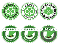 St Patrick's Day Labels